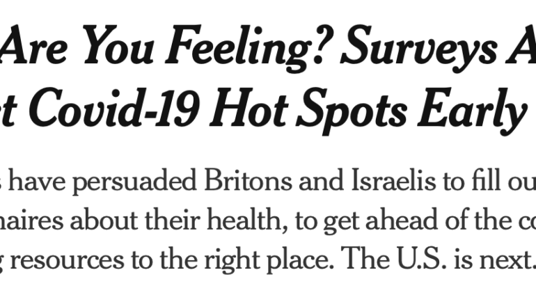 NYT Coverage of EIPM COVID Survey